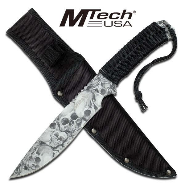 12 Quot M Tech Usa Skull Hunting Tactical Military Knife Bowie