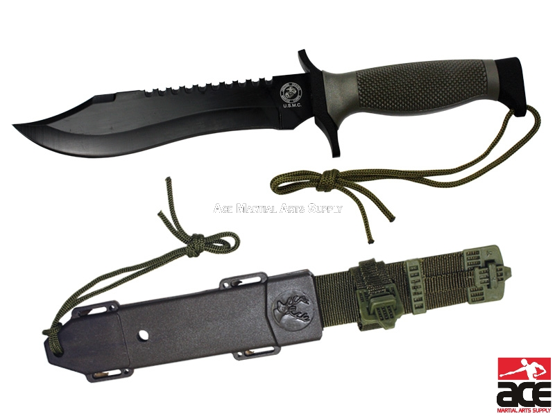 2 X 12 Tactical Combat Survival Hunting Knife Sheath Military Grey Handle In Los Angeles Store