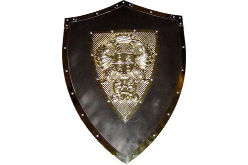 24 Quot X 18 Quot Medieval Metal Shield W Double Headed Eagle