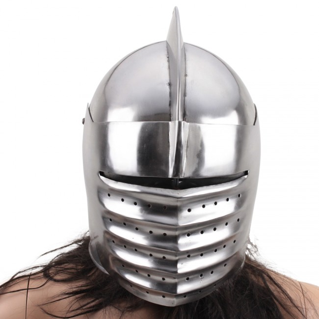 This helmet is a replica Italian Medieval Knight head armor. It features 18 gauge steel construction with a traditional ridged face shield.  sc 1 st  Ace Martial Arts Supply & 14